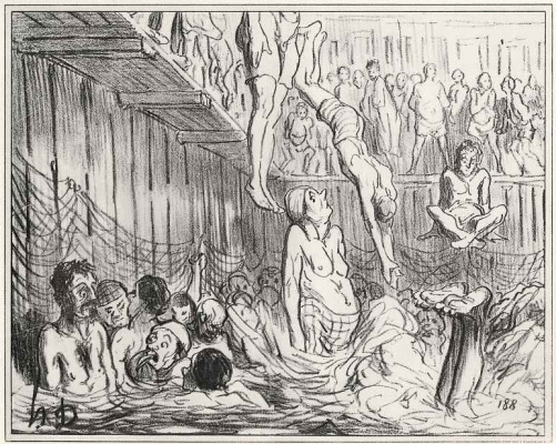 Honore Daumier. People's bath