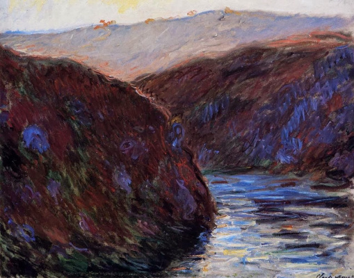 Claude Monet. Valley of the Creuse, evening effect