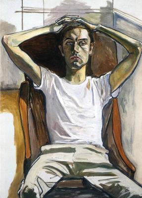 Алиса Нил. Мужчина в белой футболке