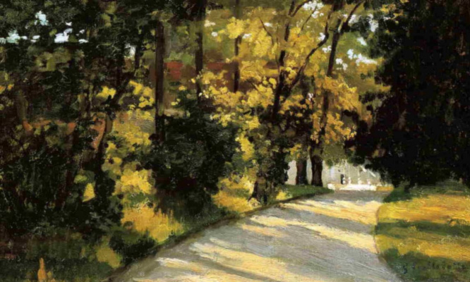 Gustave Caillebotte. Yerres, path through the woods in the park