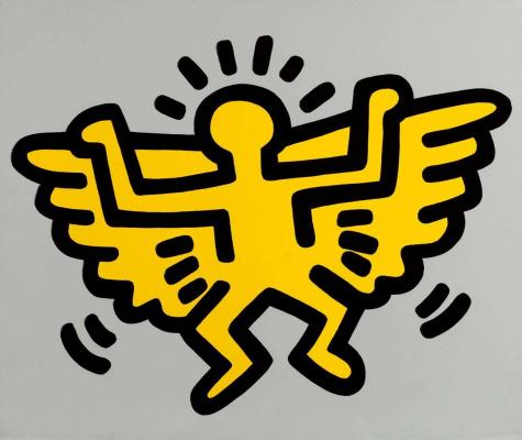 Whale Haring. Yellow angel