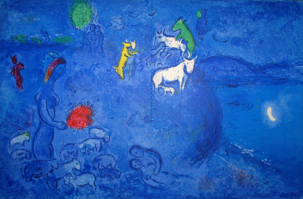 "Marc Chagall. Spring. The cycle of ""Daphnis and Chloe"""