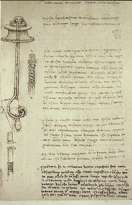 """Leonardo da Vinci. The page of """"Code Arundell"""""""