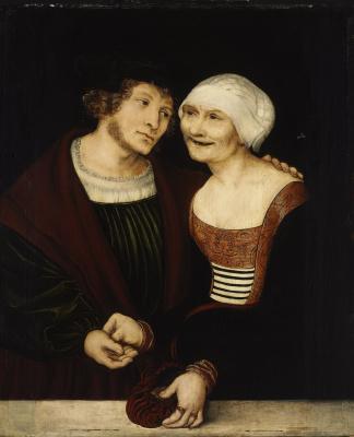 Lucas Cranach the Elder. Love the old lady