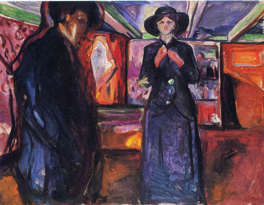 Edvard Munch. Man and woman II