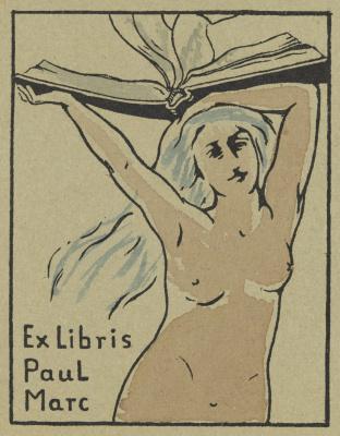Franz Mark. Bookplate