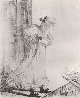 Henri de Toulouse-Lautrec. Cabaret singer
