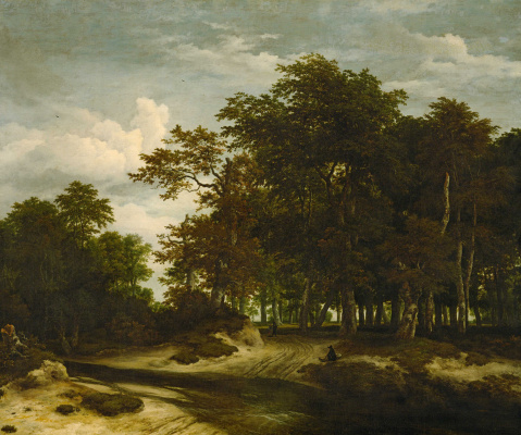 Jakob van Isaacs Ruisdael. Big forest