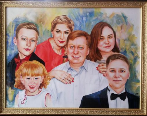 Хельга Эдуардовна Григорьева. Family portrait.