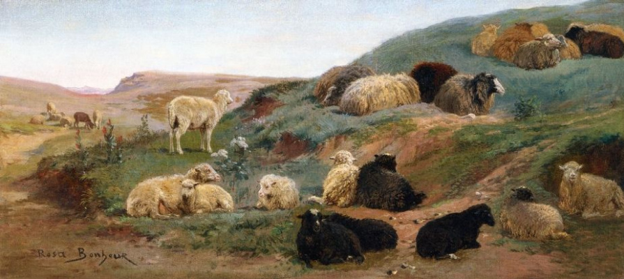 Роза Бонёр. Овцы в горном пейзаже