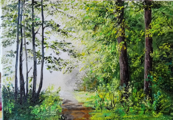 Алина Евгеньевна Шварёва (Галкина). Sunny forest