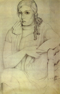 Salvador Dali. Portrait of a girl (Maria Carbone)