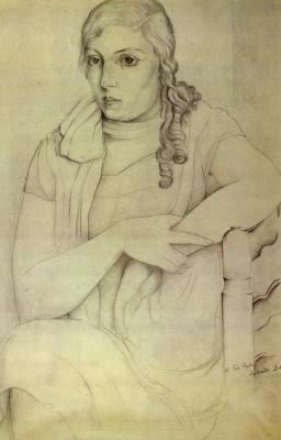 Salvador Dali. Portrait of a girl (Maria Carbone)