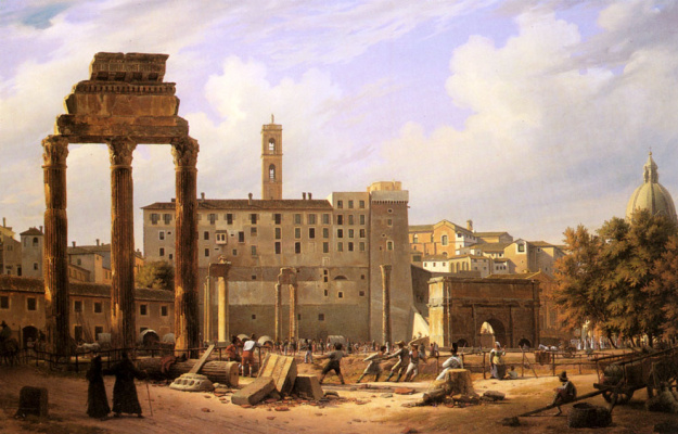 Otto Wagner. Prisoners at the excavations of the Roman Forum