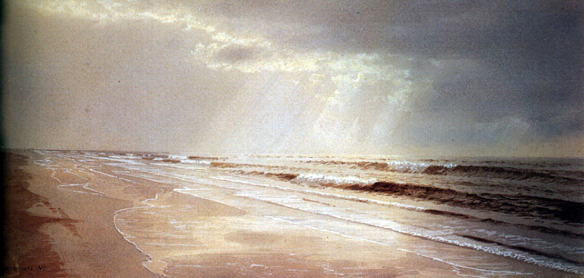 William Trost Richards. Sunset by the sea