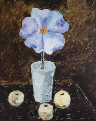 Vladimir Igorevich Yakovlev. Flower in a vase and apples