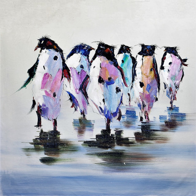 "Christina Viver. ""Royal penguin. At a relaxed pace..."""