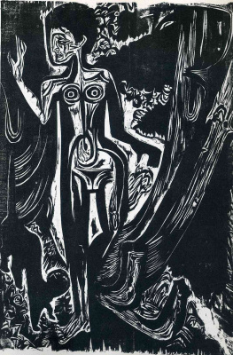 Ernst Ludwig Kirchner. Nude woman in the woods