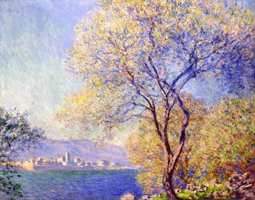Claude Monet. Antibes. The view from the SALIS gardens
