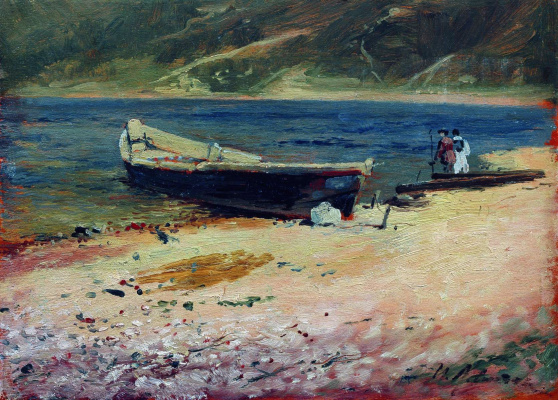 Isaac Levitan. Boat on the beach
