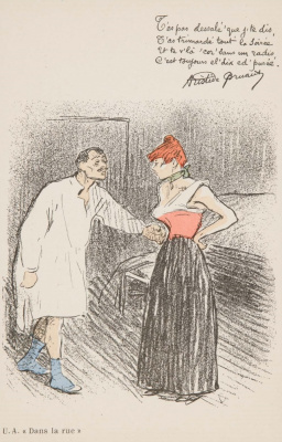 Theophile-Alexander Steinlen. Man visiting woman