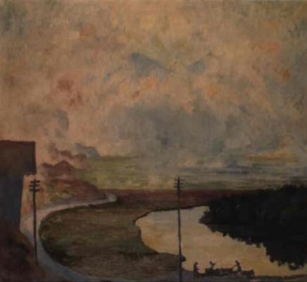 Giovanni Giacometti. Fog over Matino