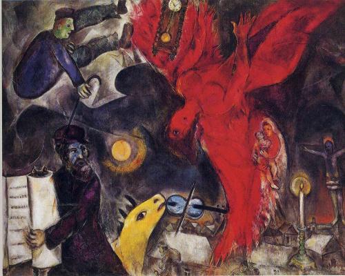 Marc Chagall. Falling angel