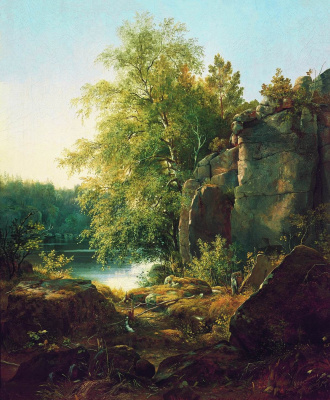 Ivan Ivanovich Shishkin. View on the island Valaam