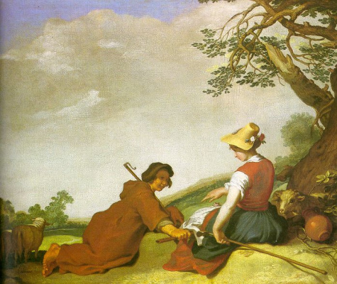 Abraham Bloomart. The shepherd and shepherdess