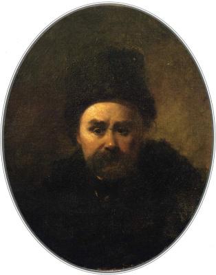 Тарас Григорьевич Шевченко. Автопортрет . 1861