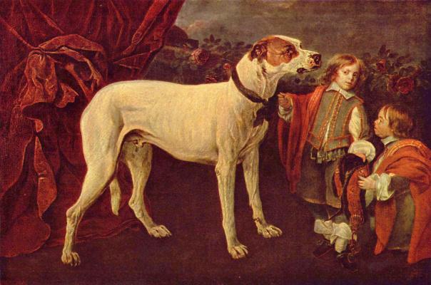 Ян Фит. Большая собака, карлик и мальчик