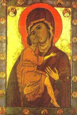 Icon Painting. Madonna The Belozerskaya