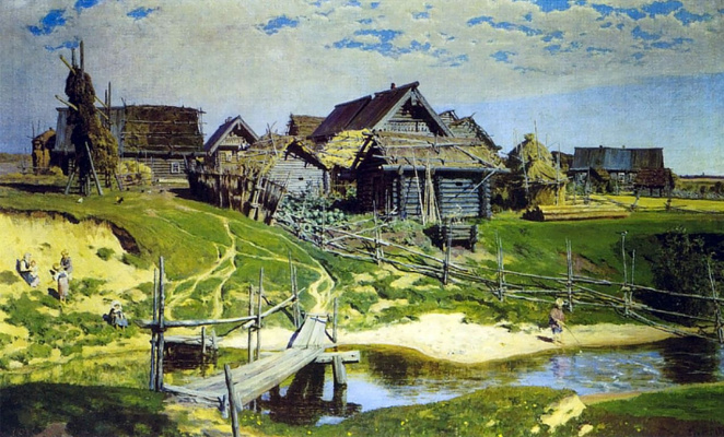 Vasily Dmitrievich Polenov. Russian village