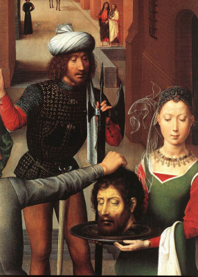 Hans Memling. The beheading of St. John the Baptist. The altar of the two Johns. Left wing. Fragment