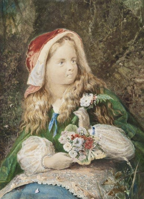 Arthur Hughes. Little Red Riding Hood