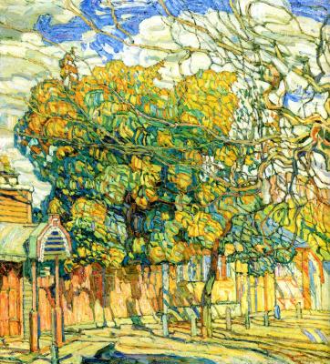 Абрам Аншелевич Маневич. City landscape