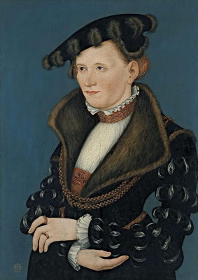 Lucas the Younger Cranach. Female portrait. Thyssen-Bornemisza Museum, Madrid.