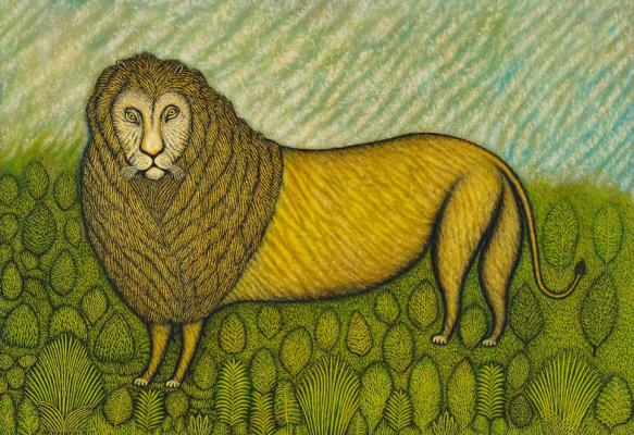 Morris Hirschfield. A lion