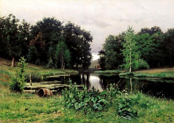 Efim Efimovich Volkov. Landscape with a pond