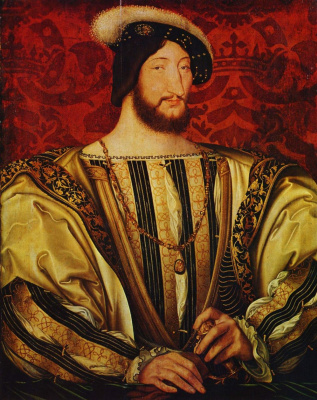 Jean Clouet. Portrait of the king of France Francis I