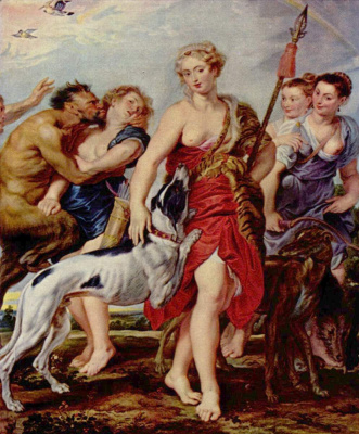 Peter Paul Rubens. Diana with nymphs before heading to the hunt