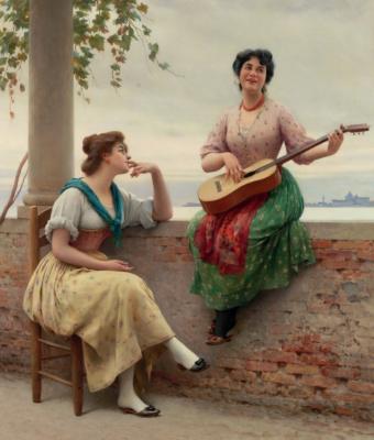 Eugene de Blaas. Venetian melody
