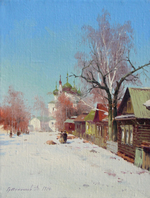 Vasily Ivanovich Gribennikov. Winter etude. February