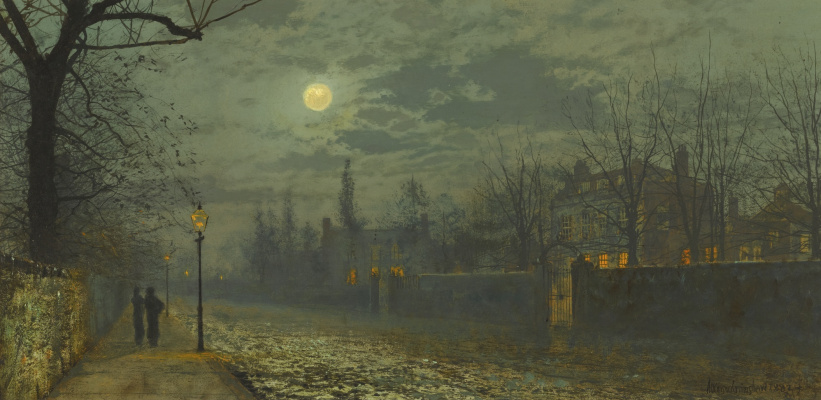 John Atkinson Grimshaw. Walk under the moon