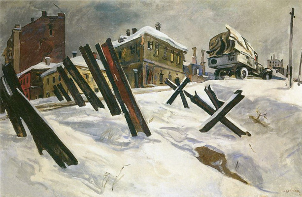 Alexander Alexandrovich Deineka. The Outskirts Of Moscow. November 1941