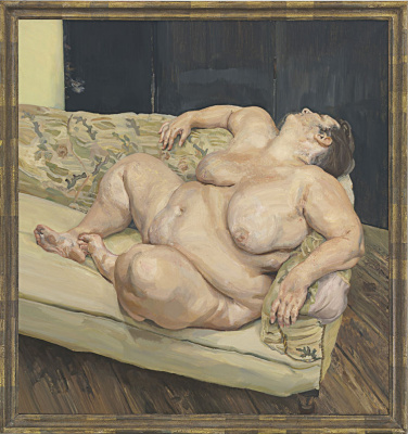 Lucien Freud. The social caretaker is resting
