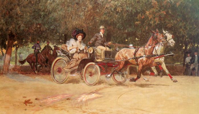 Миссис Сашерс перевозят в Хаупталле из венского парка Пратер