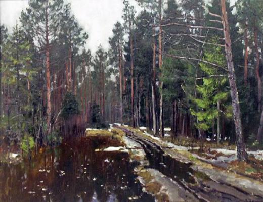 Stanislav Yulianovich Zhukovsky. The spring thaw