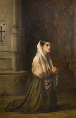 Edwin Longsden Long. Praying girl