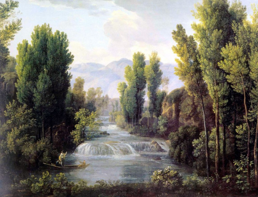 Fedor Mikhailovich Matveyev. Landscape with waterfall